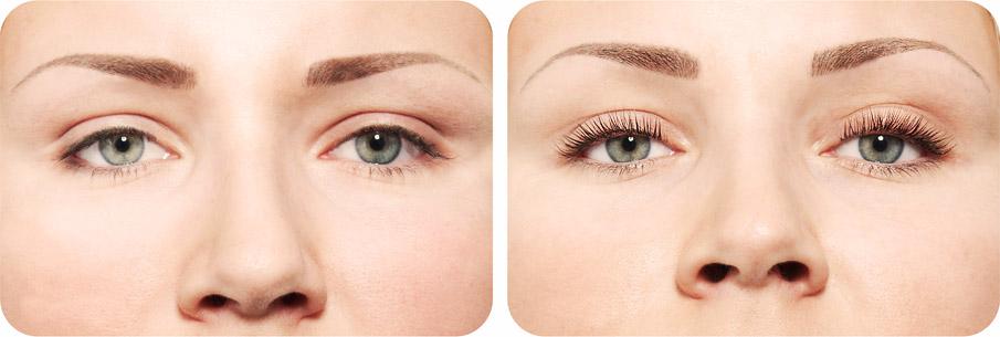 ламинация ресниц до и после фото