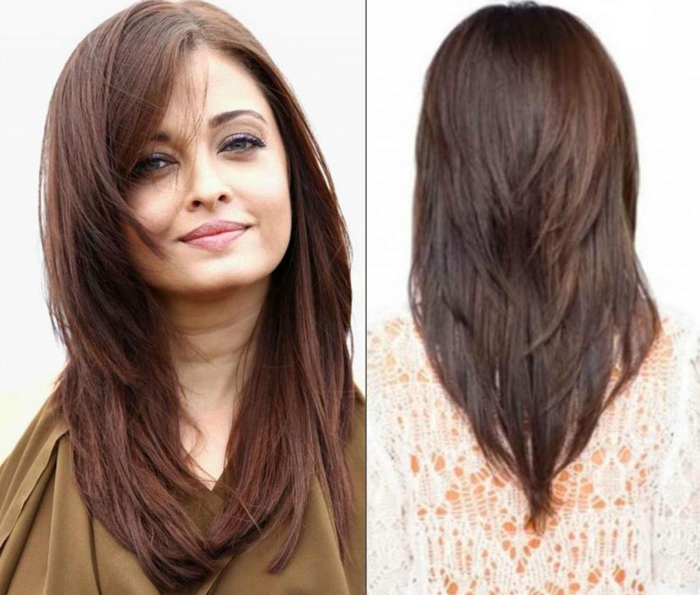Стрижка каскад до плеч – на волосы с челкой и без