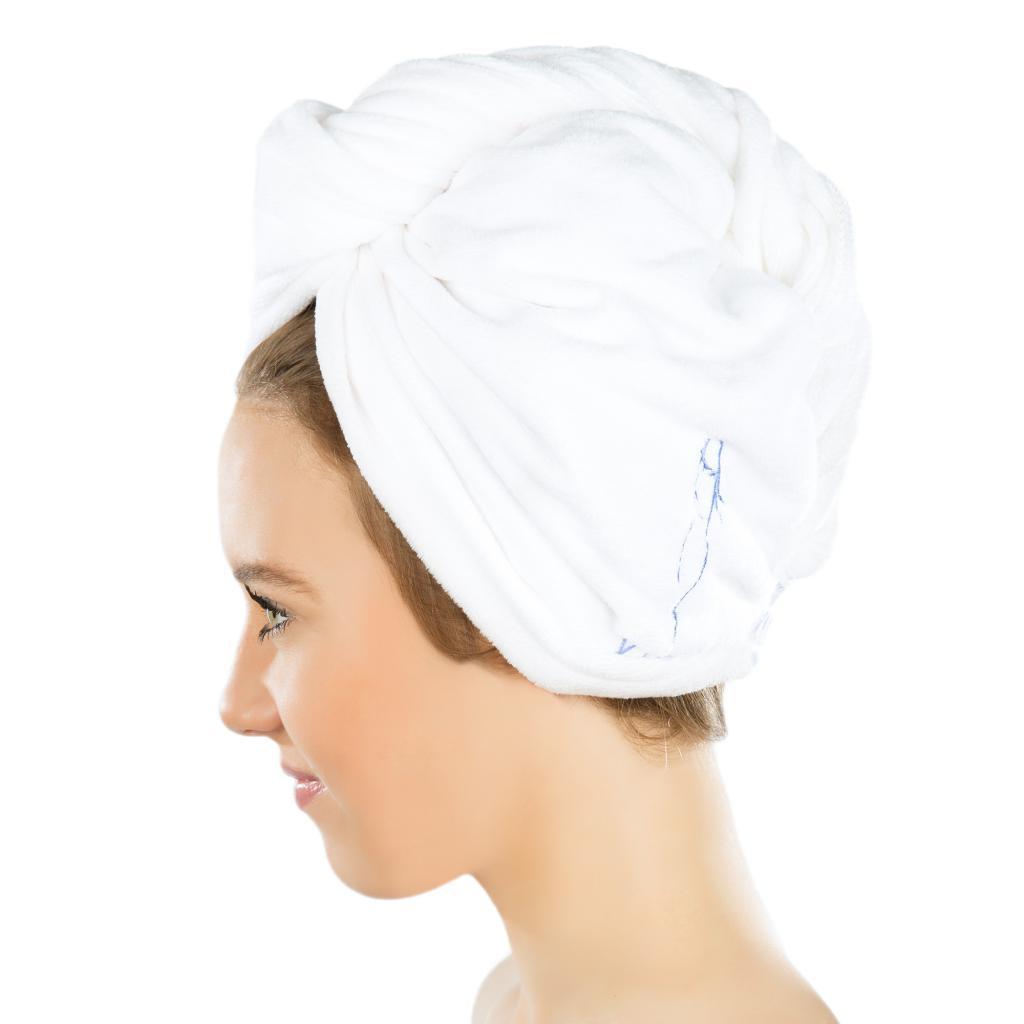 Сушка волос полотенцем