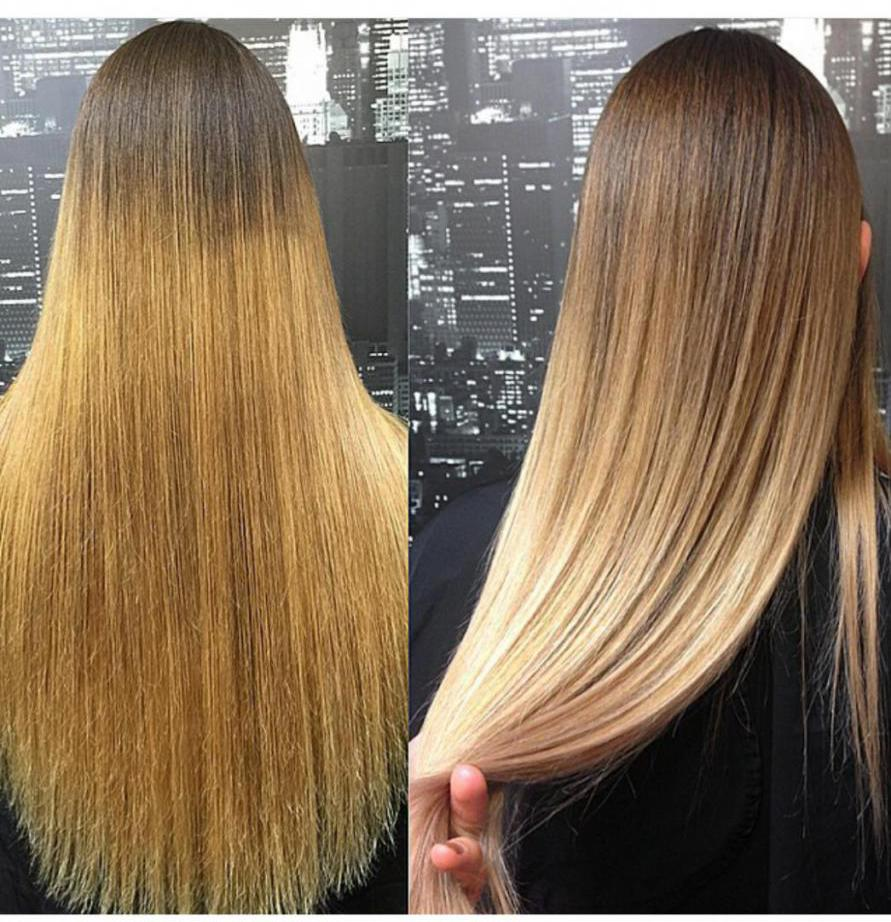 Блонд с темными корнями: варианты, техника окрашивания