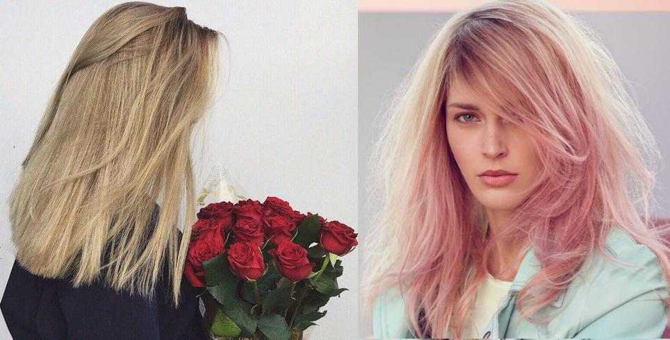 окрашивание волос в русый цвет розовый