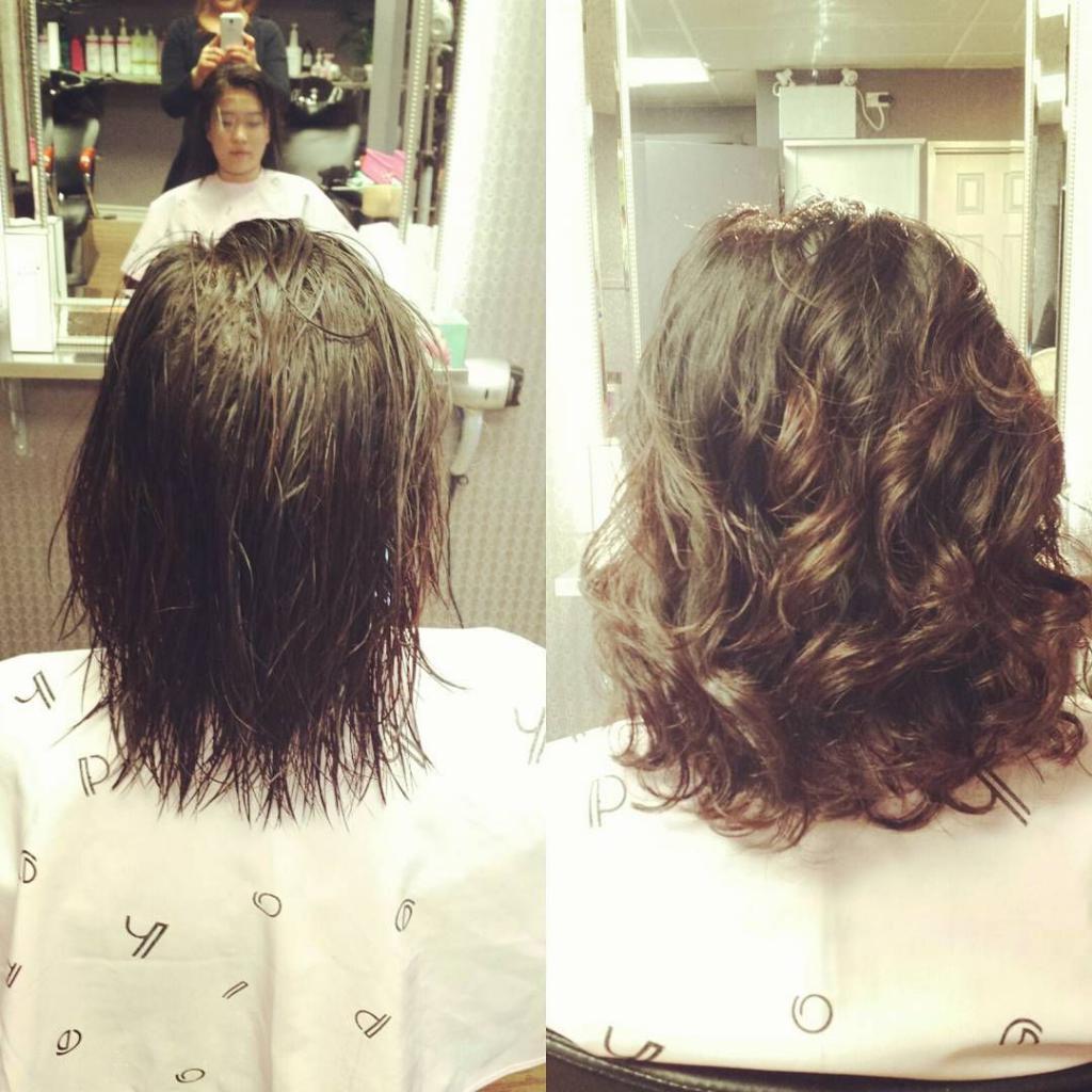 Биозавивка на волосы средней длины
