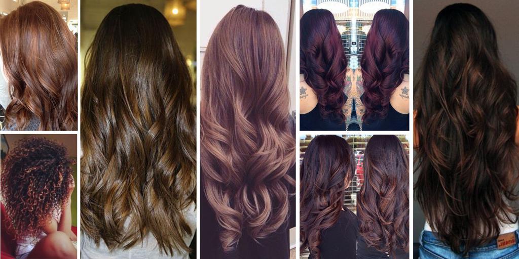 Коричневые оттенки волос