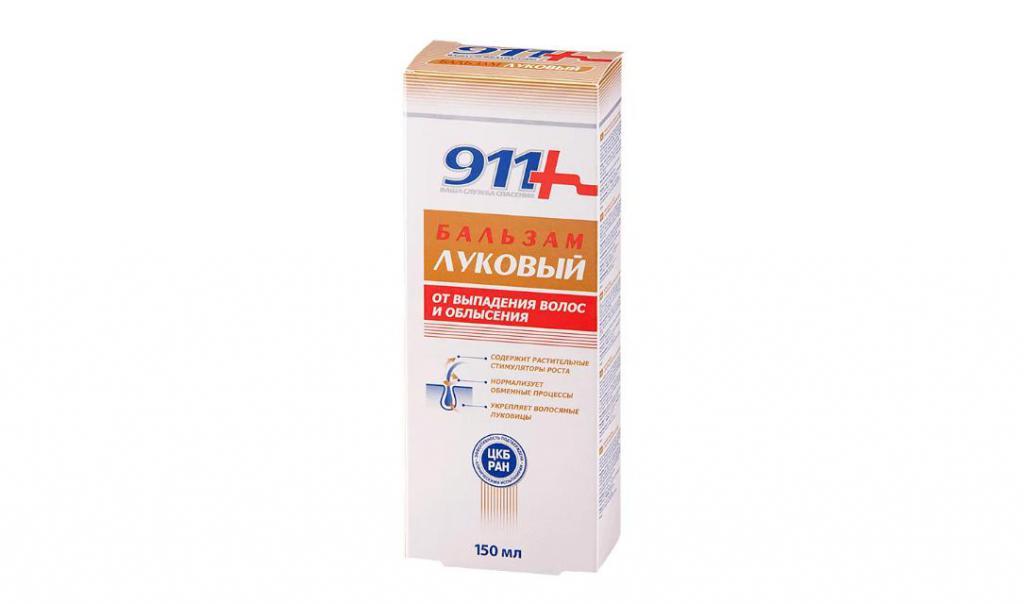 Луковый бальзам от выпадения и облысения волос 911 (Твинс-Тэк) купить