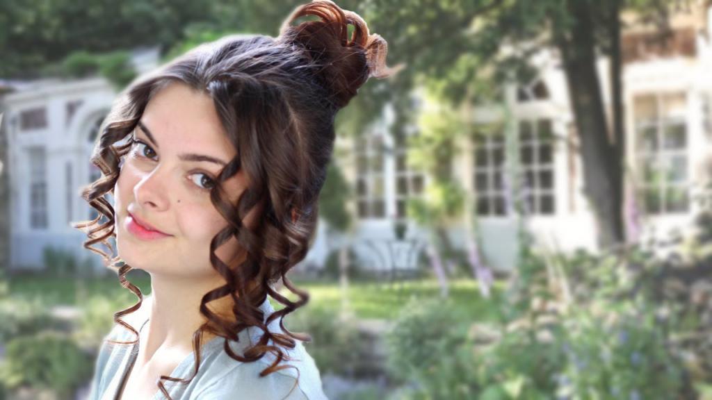 Прически в стиле 19 в. своими руками. Высокие прически на длинные волосы