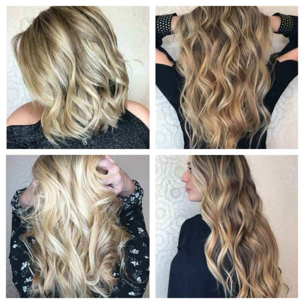 Затонировать мелированные волосы в русый