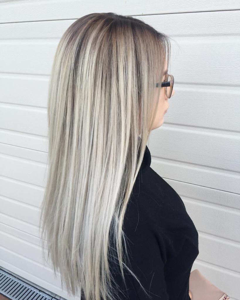 серый блонд фото