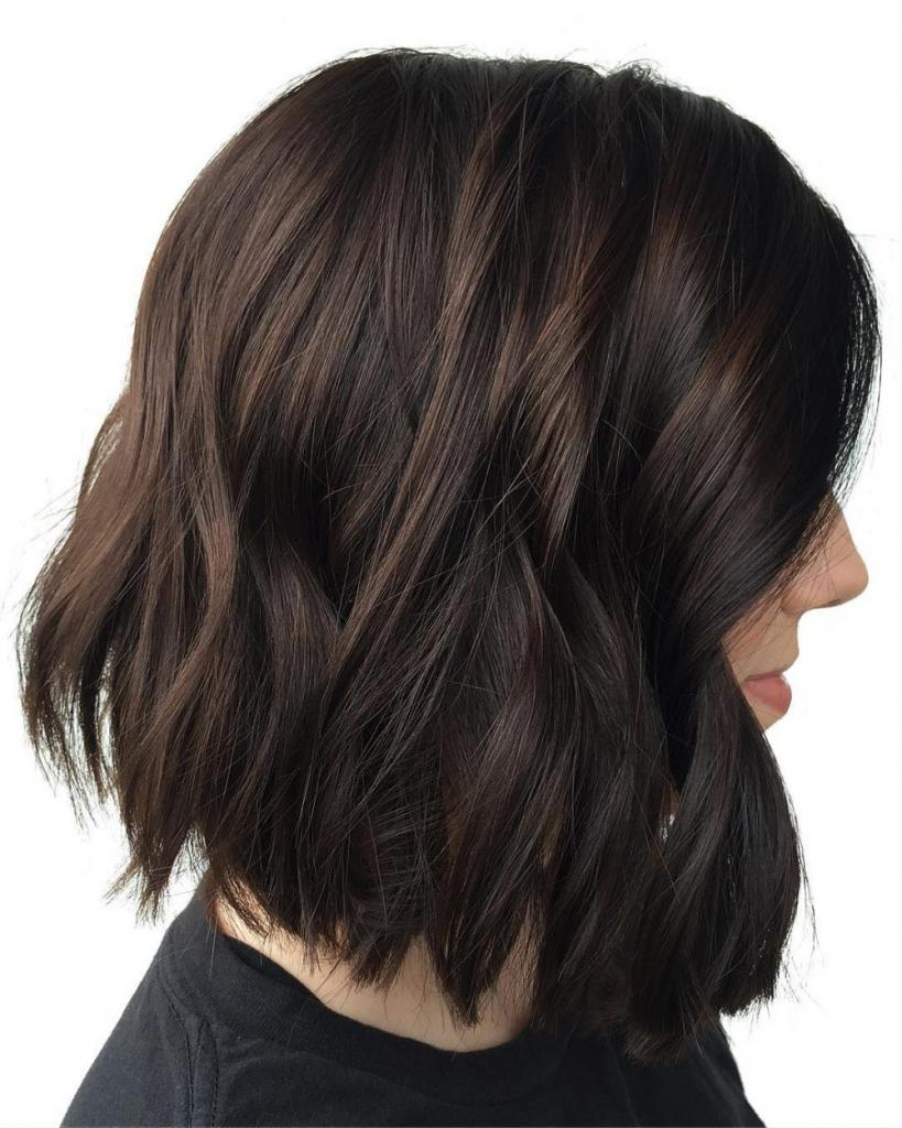Покраска волос темные тона