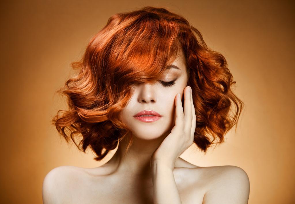 натуральный рыжий цвет волос