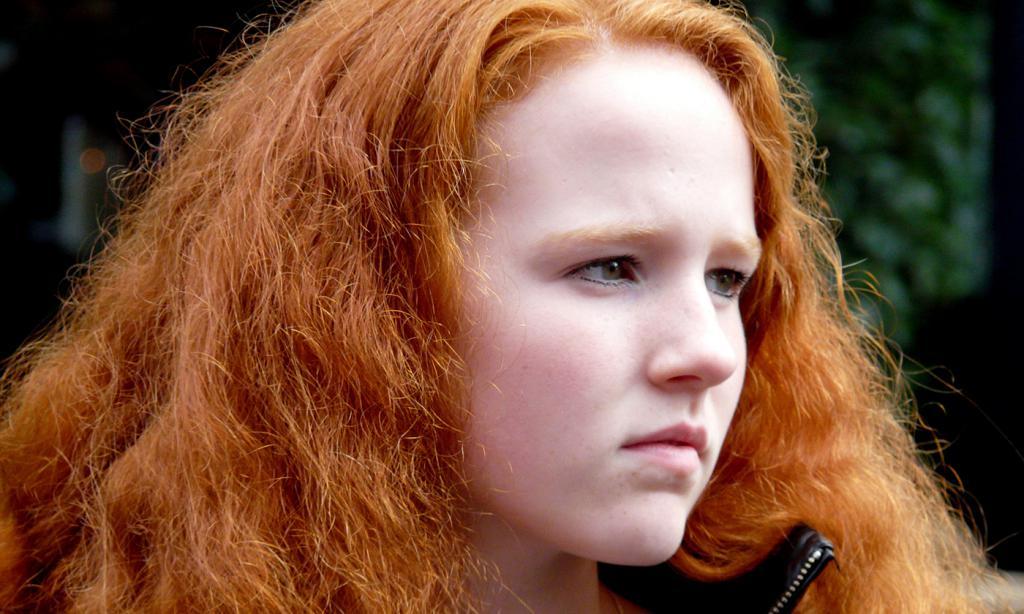ярко рыжий цвет волос