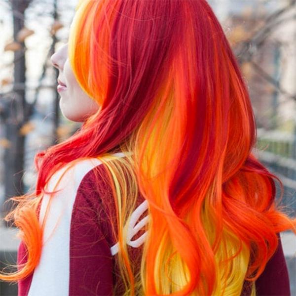 с каким цветом сочетается рыжий цвет волос