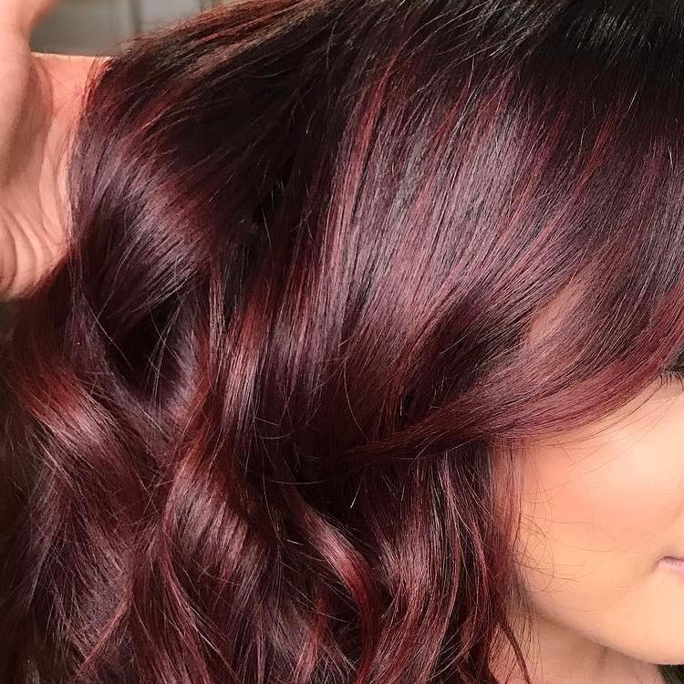 Цвет волос красное дерево фото