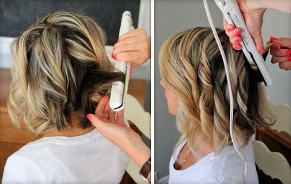 Как накрутить утюжком короткие волосы