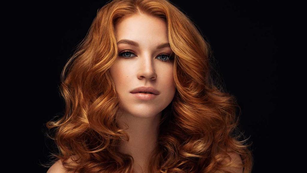 Темно рыжая краска для волос