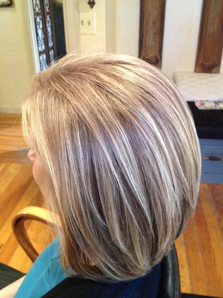 Мелирование на волосах при седине