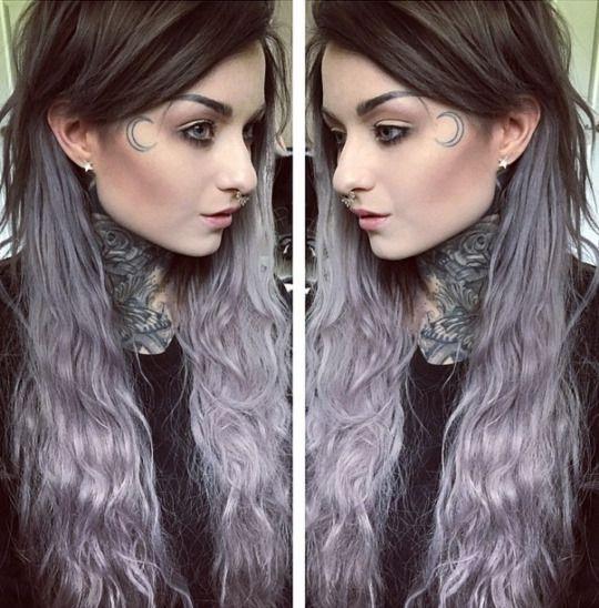 Омбре на темных волосах