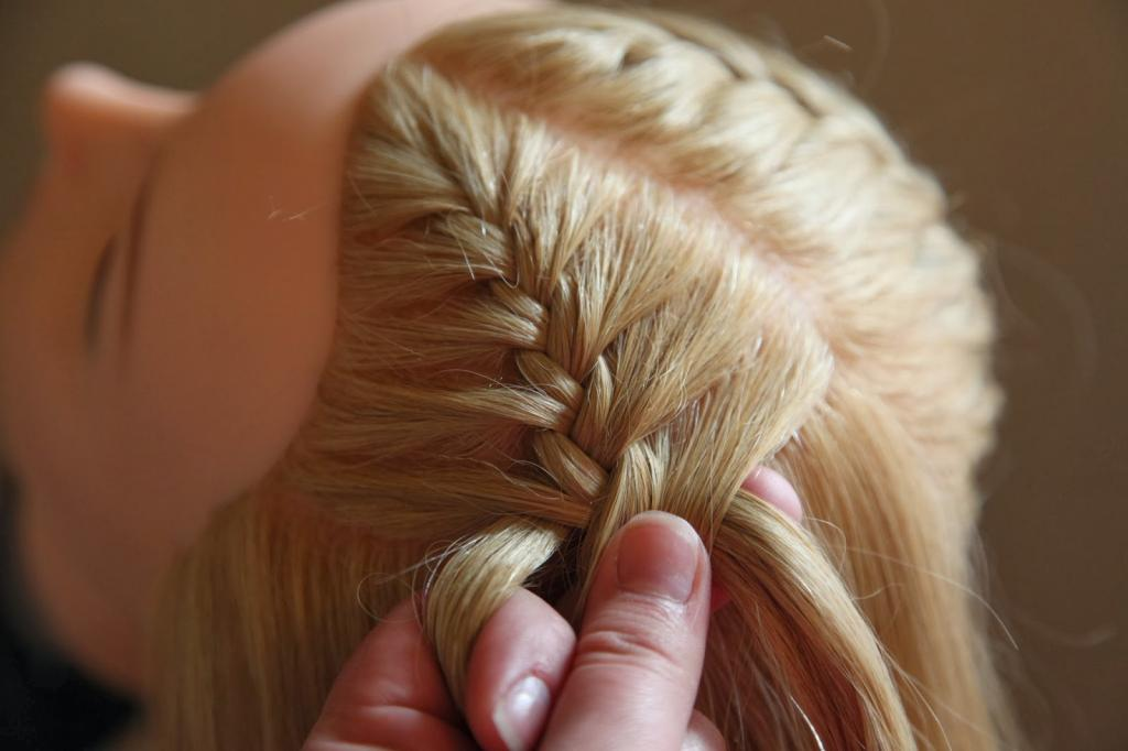 Плетение русской косы
