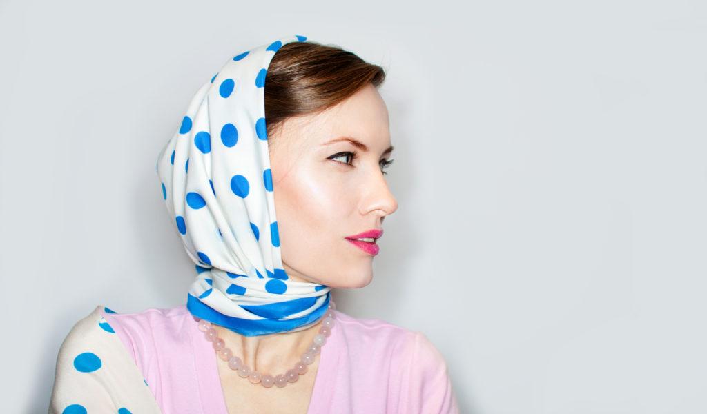 Как надеть платок на голову
