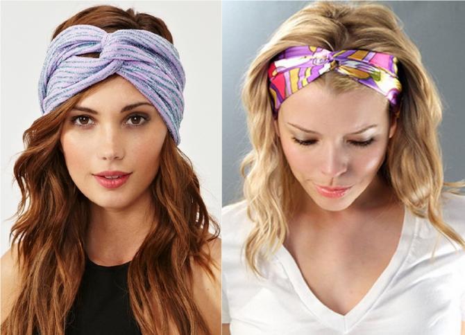 Как завязывать повязки на голове