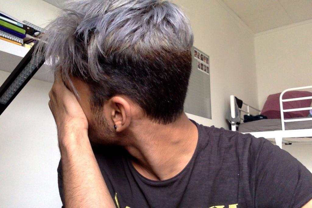 цвет волос мужчины
